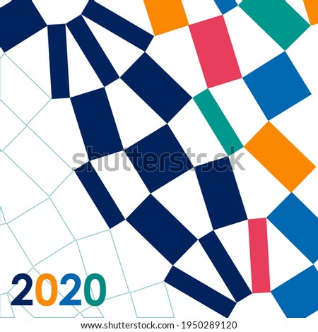 Sport background with modern and traditional elements 2020, vector