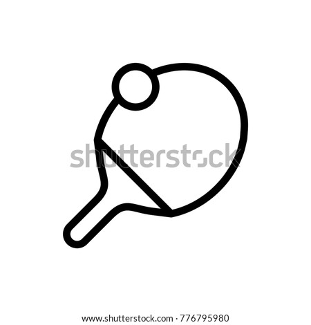 Sport ball line icon. High quality black outline logo for web site design and mobile apps. Vector illustration on a white background.