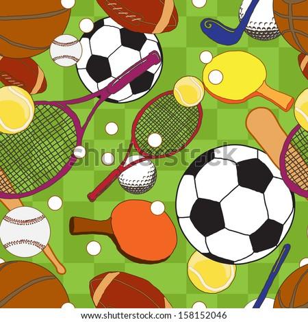 sport balls  pattern