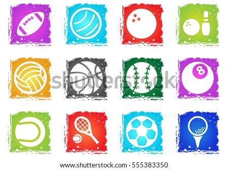 sport balls vector icons in