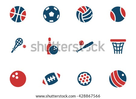 sport balls web icons for user