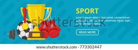 sport banner gold winner