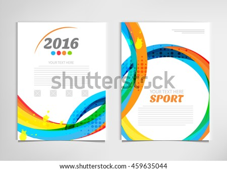 sport banners template strips