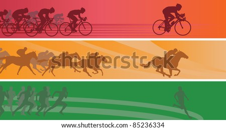 Sport banners. Vector illustration
