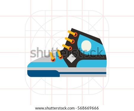 sport basketball shoe icon