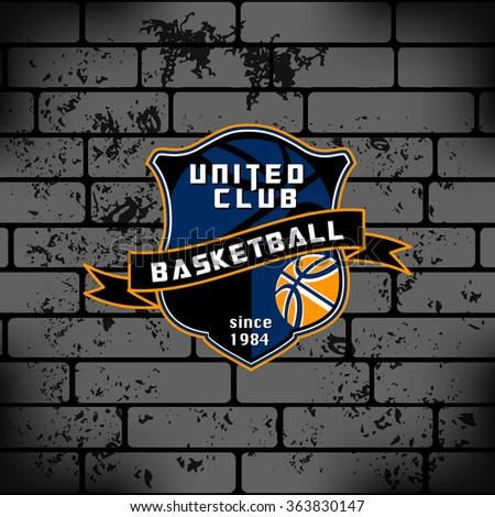 sport basketball team game logo
