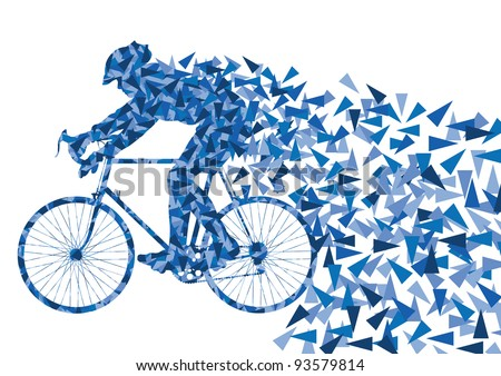 sport bike and rider vector