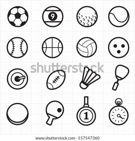 Sport black icons