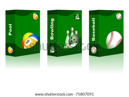 Sport box -  Pool, Bowling, Baseball Ball
