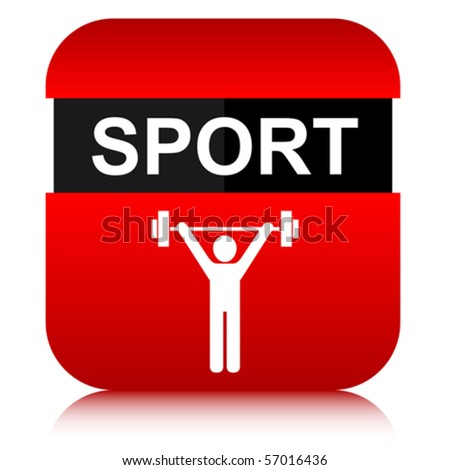 sport button - stock vector