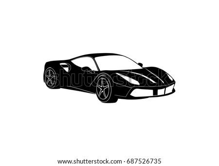 sport car black