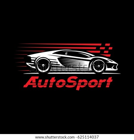sport car dark background
