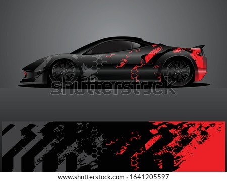 sport car decal graphic wrap