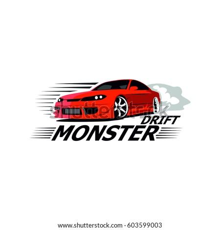 Racing Sport Car Auto Club Illustration Logo Design Ez Canvas