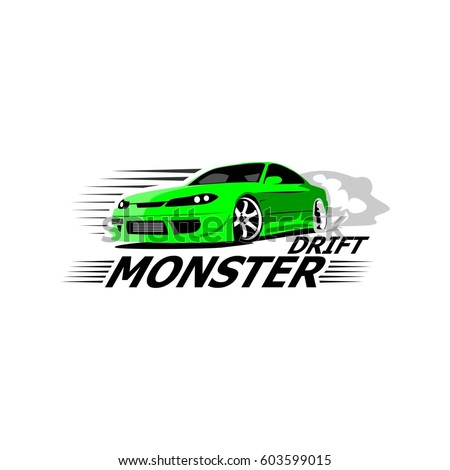 sport car drift logo