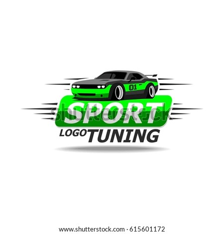 sport car illustration green