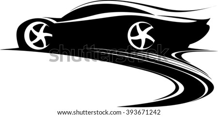 sport car label design fast
