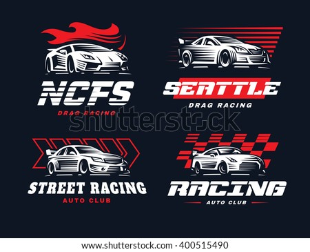 sport car logo illustration on