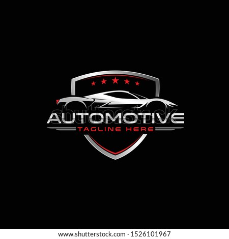 sport car logo template, Perfect logo for business related to automotive industry