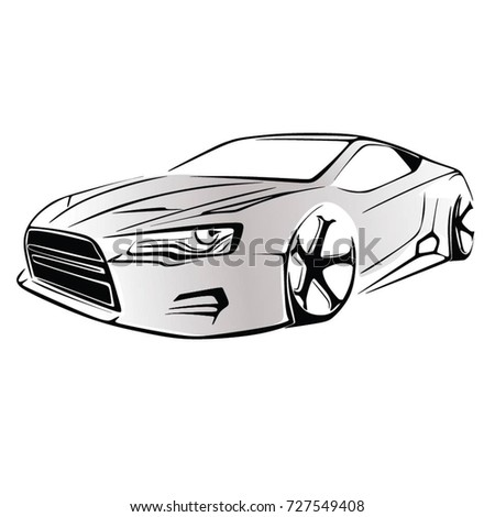 Sport car. Modern car on a white background. Vector