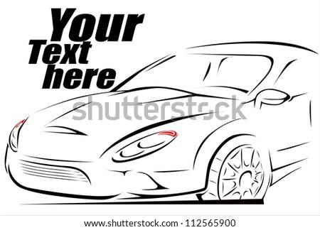 Sport Car Silhouette Background Ez Canvas