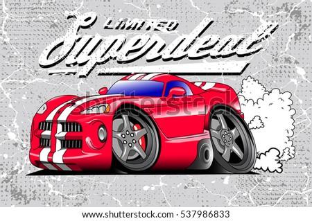 stock vector sport car vector art for print 537986833 - Каталог — Фотообои «Для детской»