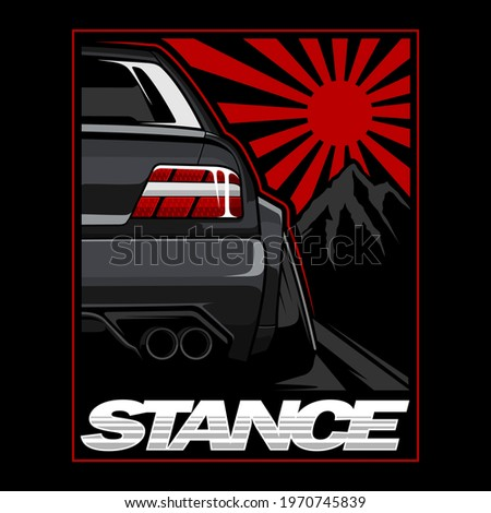 Sport car vector illustration, Car vectors are very cool for car lovers and very easy to print