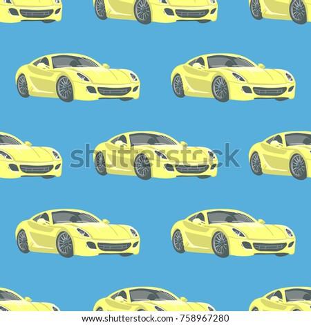sport car vector seamless