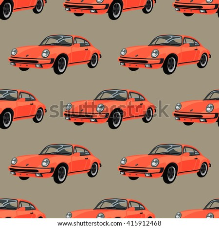 sport car vector seamless