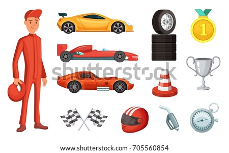 sport cars and different racing
