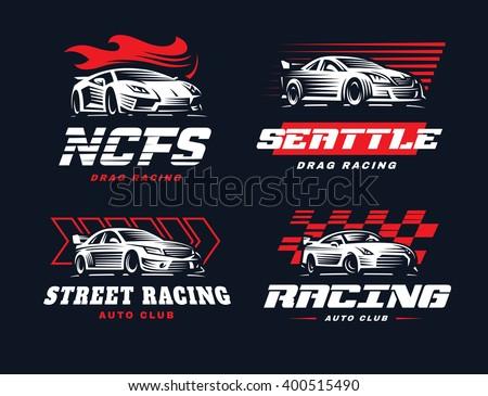 sport cars logo illustration on