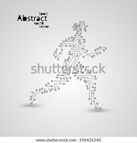 sport circuit board running man
