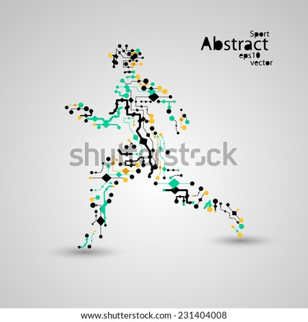 sport circuit board running man