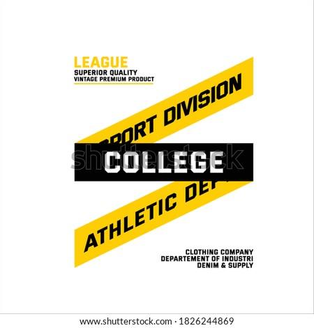sport division colege athletic dept league superior quality Imagine de stoc ©