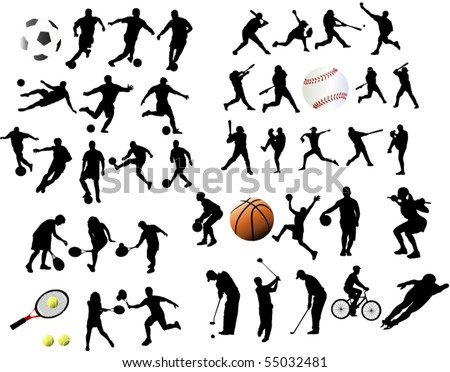 Sport elements - stock vector