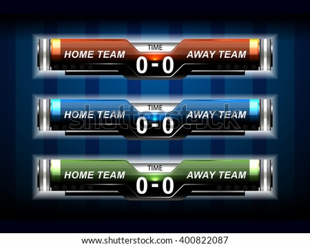 Royalty Free Stock Photos And Images: Sport Elements Scoreboard