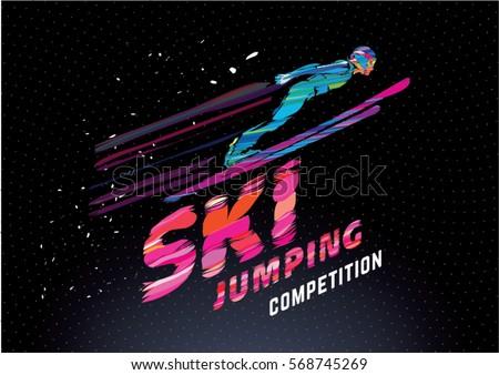 sport emblem on the topic ski