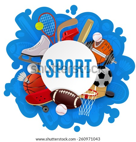 sport equipment concept with