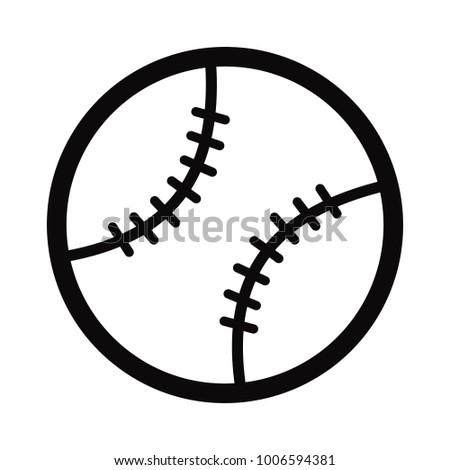 Sport equipment simple baseball icon