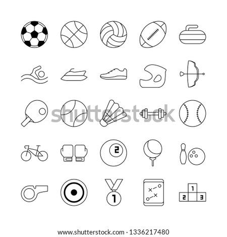 sport equipment. sport icon set