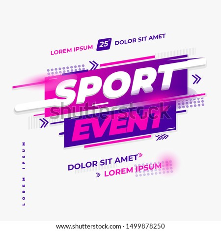 sport event design vector