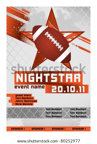 Sport Event Poster Football - stock vector