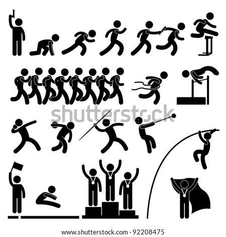 Sport Field and Track Game Athletic Event Winner Celebration Icon Symbol Sign Pictogram