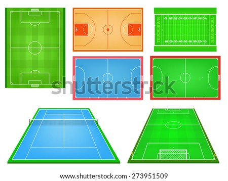 sport fields vector sports