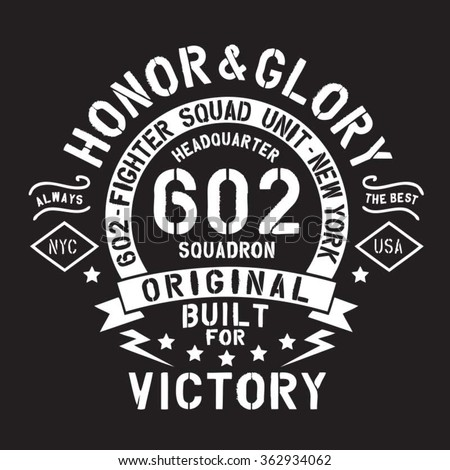 sport fighter typography  t