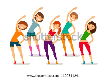 Sport, fitness, gym concept. Funny cartoon vector illustration Stock photo ©