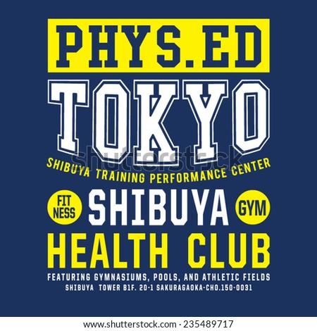 sport fitness tokyo typography