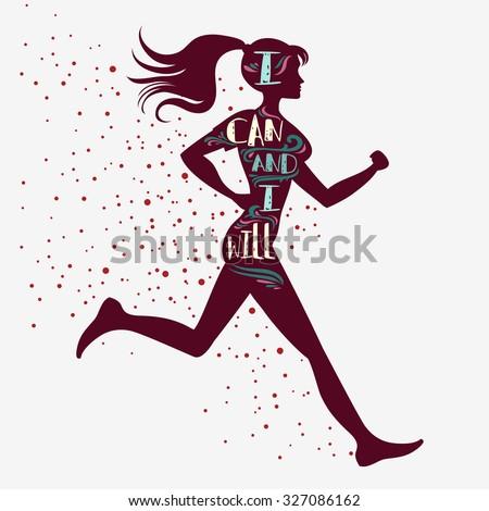 sport fitness typographic