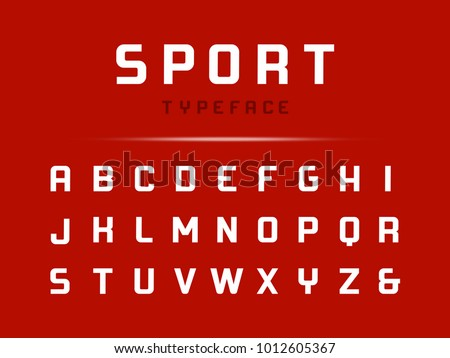 Sport font. Vector alphabet with latin letters