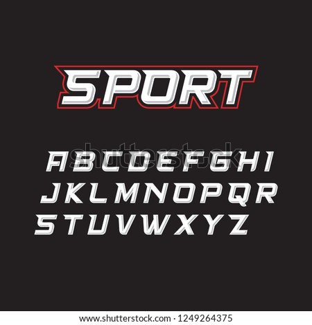 Sport fonts suitable for sports and games